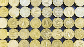Background of the 10 ruble coins Royalty Free Stock Image