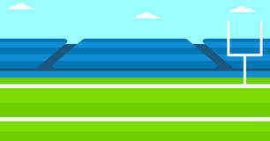 Background of rugby stadium. Royalty Free Stock Photos