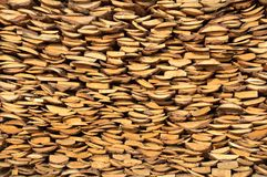 Background from a rural woodpile Stock Image