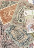 Background of the Russian banknotes Stock Photos