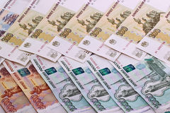Background of Russian banknotes Royalty Free Stock Photo