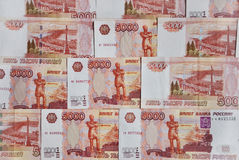 Background of Russian money,. The five thousandth bills royalty free stock photo