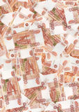 Background of russian money. Background of five thousandth bills stock images