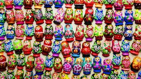Background of Russian nesting dolls Royalty Free Stock Photo