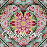 Background painted with flowers love heart card. Background russian painted with flowers love heart card Royalty Free Stock Photos