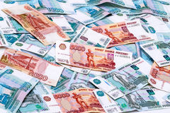 Background of Russian paper money Stock Image