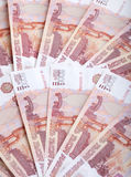Background from Russian Rouble Royalty Free Stock Photos