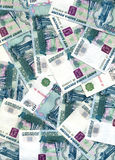 Background from  russian rubles Denomination Stock Photography
