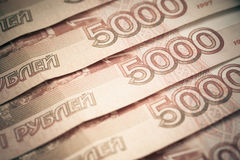 Background of russian rubles. Royalty Free Stock Images