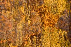 Background of rust. Background of  disintegrating rust with textures and colors Royalty Free Stock Photo