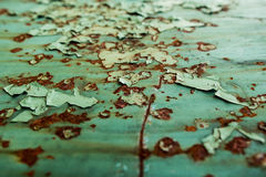 Background, rust on a metal plate Royalty Free Stock Photo