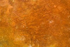 Background of rusted sand in which metal is contained Royalty Free Stock Images