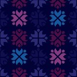 Rustic folk pattern. Background with rustic folk pattern Stock Photography