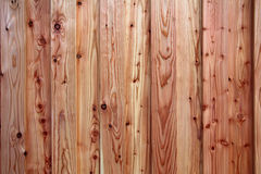 Background of rustical wooden pine planks Stock Photography