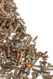 Background of rusty bolts Royalty Free Stock Photography