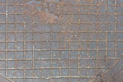 Background from rusty cast iron with the checkered relief drawing. Background from old rusty cast iron with the checkered relief drawing royalty free stock photography
