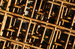 Background with rusty grid Stock Photo