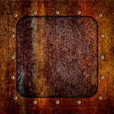 Background of rusty metal plate texture iron corroded, 3d. Old metal rusty iron plate for backgrounds, 3d, illustration royalty free illustration