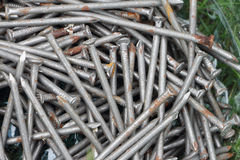 Background from the rusty nails Royalty Free Stock Photography