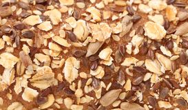 Background of rye bread with seeds Royalty Free Stock Photography