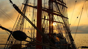 Background -  sailing ship rigging Stock Image