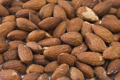 Background of salted almonds. Background made of salted almonds Stock Photography