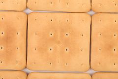 Background of saltine soda cracker. Stock Images