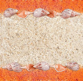 Background from sand and shells in a grunge style Royalty Free Stock Photos