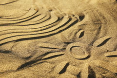 Background sand waves on the beach Stock Images