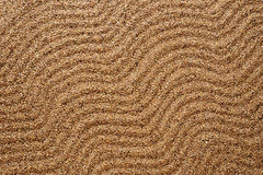 Background sand. Waves texture. Royalty Free Stock Photo