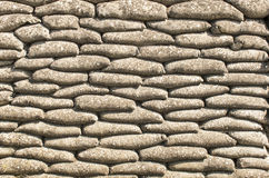 A Background of sandbags in trench of death Royalty Free Stock Photo