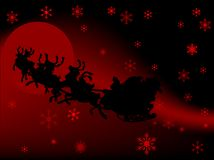 Background with Santa Stock Photo