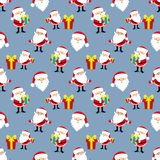 Background with Santa Claus. Blue seamless background with Santa Claus and gifts Royalty Free Stock Photography