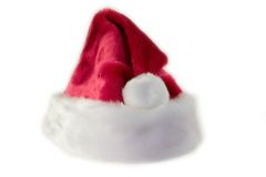 Background Santa Hat. White background with Santa hat Stock Image