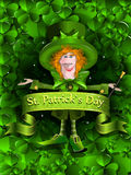 Background Santa Patrick Day Royalty Free Stock Image