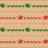 Background Santa Reindeer vector illustration