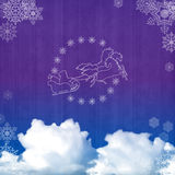 Background with Santa sleigh Royalty Free Stock Photography