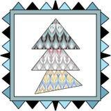 Background scandinavian pattern patchwork quilt design Stock Images