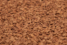 Background of scattered ground coffee Royalty Free Stock Images