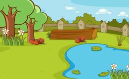 Free Background Scene With Trees And Pond Royalty Free Stock Photo - 169485995