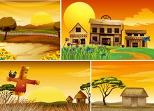 Background scenes at sunset Royalty Free Stock Image