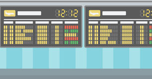 Background of schedule board. Background of schedule board vector flat design illustration. Horizontal layout Royalty Free Stock Images