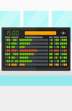 Background of schedule board. Background of schedule board vector flat design illustration. Vertical layout Stock Image