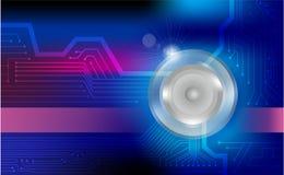 Background schem electric circuit. Background scheme eleactronic blue light flash Electric circuit wallpaper HD Vector design illustrator Corel Stock Image