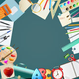 Background with school items Stock Images