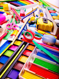 Background of school supplies. Royalty Free Stock Images