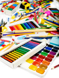 Background of school supplies. Royalty Free Stock Photos