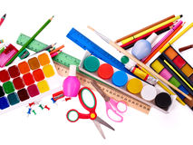 Background of school supplies. Royalty Free Stock Photography