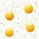 Background from scrambled eggs Stock Photo