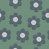 Background with scrapbook flowers Stock Photography